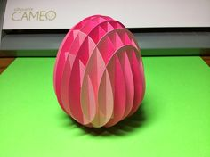 Papercrafts and other fun things: Standing a Sliceform Egg on End for the Equinox