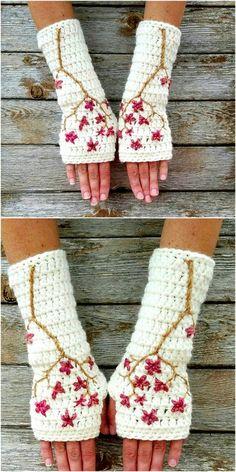 25 Easy and Super Duper Crochet Gloves Free Patterns Crochet Wool, Crochet Motifs, Crochet Mittens, Basic Crochet Stitches, Crochet Basics, Cute Crochet, Crochet Scarves, Crochet Crafts, Crochet Clothes