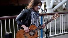 Feeling Good (acoustic guitar cover) - Susana Silva - Busking { more Susana on ~ music ... board }
