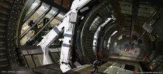 Space station transit corridor by Jesse van Dijk - Game: Killzone 3