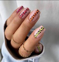 Hot Nails, Swag Nails, Hair And Nails, Yellow Nails, Pastel Nails, Gorgeous Nails, Pretty Nails, Multicolored Nails, Glamour Nails