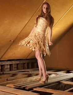 Woven Wood Dress Sculpture, Wood, Third Rail, Dresses, Fashion Design, Wooden Jewelry, Haute Couture, Gowns, Vestidos