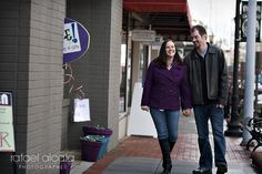 Historic downtown Lawrenceville GA - main street engagement session #wedding #Gwinnett