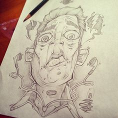 Smooth Sketch!! LUNCH SCRIBBLES by Craig Patterson - Absorb81, via Behance