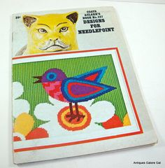 Vintage Book Designs For Needlepoint Pattern by AntiquesGaloreGal,