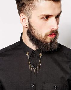 Reclaimed Skull Collar Tips With Chain
