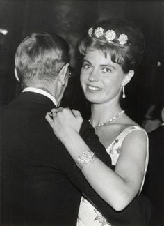 Princess Margaretha of Sweden is dancing with the British ambassador at a ball in the Town Hall, Stockholm 1962