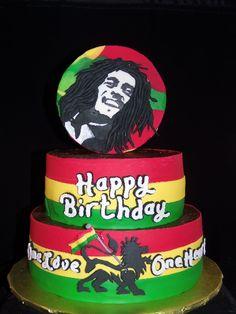 Bob Marley Cake-GoochieGourmet.com Rasta Cake, Bob Marley Cakes, Beautiful Cakes, Amazing Cakes, Rasta Party, 75th Birthday Parties, Birthday Cake, Different Cakes, Best Food Ever
