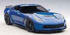 Chevrolet Corvette Stingray C7 Z06 Laguna Blue Tintcoat 1/18 Model Car Autoart 71265