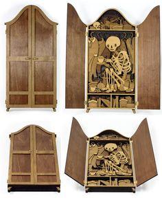 Martin Tomsky: Fantásticas ilustraciones desarrolladas con madera cortada a través de láser