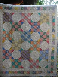 snowball quilt | 30's reproduction Snowball quilt