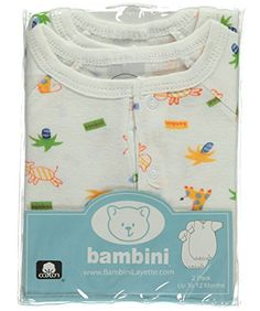 Bambini Baby Boys Happy Animals 2Pack Gowns  white 0  12 months -- Find out more about the great product at the image link.
