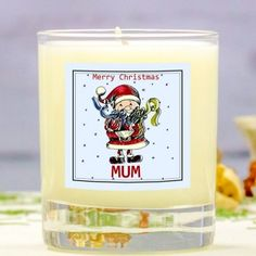 Personalised Scented Candle - Christmas Santa