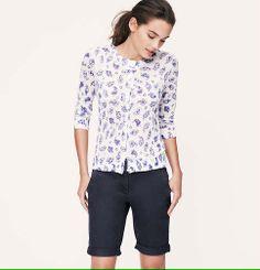 Skinny Cuffed Bermuda Shorts in Julie Fit with 10 Inch Inseam | Loft