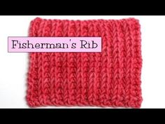 Fancy Stitch Combos - Fisherman's Rib