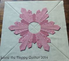 DSCN3563  Brenda Sutter's beautiful Midnight Snowfall block. Pattern is in the January/February 2015 issue of Quiltmaker.