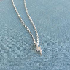 Lightning bolt necklace (tiny) by lunahoo