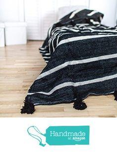Black Jaguar. Moroccan Pom Pom Blanket Throw, Quilt, Bedding, Wool. X-Large (94 x 118 inches / 2.4 x 3 m) from Mediterranean Living https://www.amazon.com/dp/B01HOTKO96/ref=hnd_sw_r_pi_dp_.DUtzbAXXPKV1 #handmadeatamazon