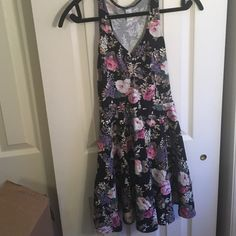 Sundress Tight top flowy bottom. Some singeing in the middle. (2nd pic) Razor back dress never worn Forever 21 Dresses Mini