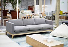 Classic Sofa Timber Base by Koskela Interior Design Inspiration, Room Inspiration, Home Furniture, Furniture Design, Apartment Sofa, Apartment Ideas, Wood Sofa, Classic Sofa, Fabric Sofa