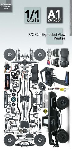 Type E, Lego Kits, Exploded View, Rc Trucks, Radio Control, Rc Cars, Offroad, Toyota, Scale