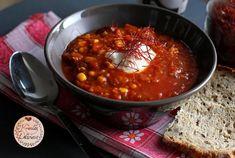 Chili con Grünkern - sin Carne - Thermomix - Rezept von Krizzle's Delicious Pampered Chef, Chana Masala, Soup, Ab Sofort, Ethnic Recipes, Chili Con Carne, Easy Meals, Soups