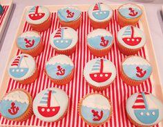Festive anchor cupcakes!