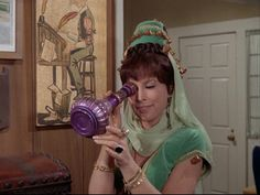 I Dream of Jeannie: Season Episode 2 Jeannie or the Tiger Sep. I Dream Of Jeannie, Columbia, Genie In A Bottle, Agnes Moorehead, Barbara Eden, Running Costumes, Classic Tv, Classic Films, Funny Scenes
