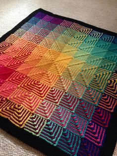 Ravelry: Project Gallery for Hue Shift Afghan pattern by Kerin Dimeler-Laurence
