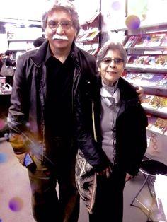 Con mi amiga, la entrañable poeta Matilde Casazola