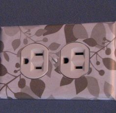 Easy & Creative Decor Ideas - Wallpaper Covered Sockets  - Click Pic for 38 DIY Home Decor Ideas on a Budget