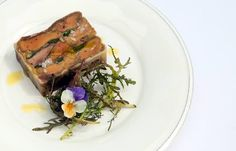 Chicken livers are paired with leeks and dukkah in this intriguing chicken terrine recipe from Greg Malouf Mango Recipes, Summer Recipes, Chicken Liver Terrine, Greg Malouf, Dukkah Recipe, Christmas Catering, How To Roast Hazelnuts, Great British Chefs