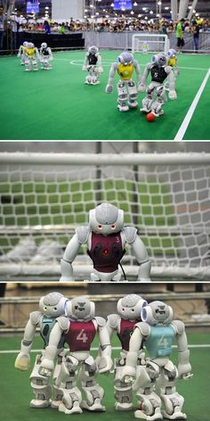 Precious little robots compete for the 2015 RoboCup in tiny soccer match