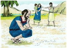 The next morning there was a layer of dew on the ground which dried up and became like thin flakes of frost on the ground.' they asked Moses. The Hebrew word for 'what is it?' is 'manna'. Bible Story Crafts, Bible Crafts For Kids, Bible Stories, Desert Crafts, Genesis One, Crossing The Red Sea, Kids Church Lessons, School Lessons, Preschool Bible Lessons