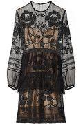Alberta Ferretti Lace and chiffon-trimmed silk-macramé dress NET-A-PORTER.COM