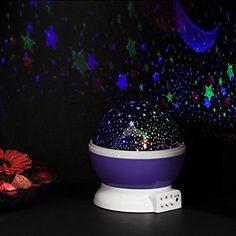 Next Generation 360° LED Starlight, Sternenlicht Projektor Sternen Einschlafhilfe Baby Nachtlicht für Kinder - violett: Amazon.de: Küche & Haushalt