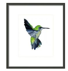 Hummingbird Watercolor Art - Power of Flight
