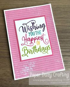 Paper Daisy Crafting: Multicoloured stamping with Stampin' Write Markers Daisy Image, Paper Daisy, Thank You Gifts, Stuff To Do, I Card, Markers, Stamping, Card Stock, Give It To Me