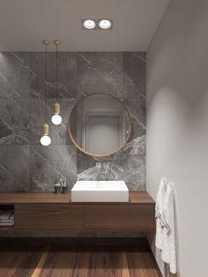 Pink Bathroom: Designs & Decoration Photos - Home Fashion Trend Bathroom Niche, Small Bathroom, Bathroom Ideas, Boho Bathroom, Master Bathroom, Modern Bathroom Design, Bathroom Interior Design, Yellow Bathrooms, Minimalist Bathroom