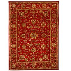 @Overstock - This beautiful rug was hand-tufted with 100-percent wool and herbal-washed for utmost delicacy. The 8 by 11-foot area rug featuring a traditional oriental design will certainly add the perfect touch of color and style to any room.http://www.overstock.com/Home-Garden/Hand-Tufted-Tempest-Red-Gold-Area-Rug-8-x-11/6431434/product.html?CID=214117 $447.99