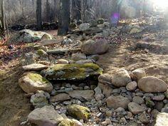 Dry creek bed (drainage idea)