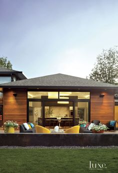Modern Neutral Exterior with Concrete Site Walls
