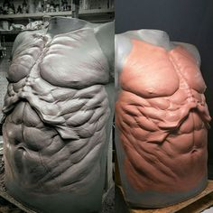 New chest #sculpture for the man @rbfx #specialeffectsmakeup #specialeffects #prosthetics #prostheic #foamlatexprosthetics #foamlatex #NSP #chavant #werewolves #werewolf #monsters #steak #meat #meatloaf #yogurt #pandas #kitty #49erssuckagain