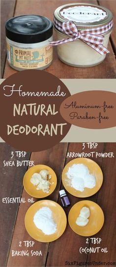 Deodorant- Natural, Aluminum-Free- Primal Pit Paste Inspired Avoid nasty chemicals with homemade deodorant. This Primal Pit Paste inspired natural deodorant is aluminum free, paraben free and even cheaper than the commercial stuff! Deodorant Recipes, Homemade Deodorant, Diy Natural Deodorant, Non Aluminum Deodorant, Natural Soaps, Homemade Facials, Soap Recipes, Diy Beauty Hacks, Beauty Tips