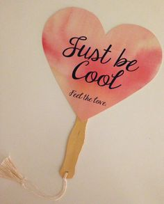 Printable Heart Shaped Fan DIY Wedding Favor by BaublesBubblyBelle, $5.00
