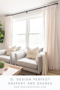 @coco.and.jack chose our Grace Linen inverted pleat drapery in the colour Salt for their living room window, and we're loving the softness they add to the windows and walls. Custom drapery always finishes off a well-decorated space! Click to explore all of Q. Design's custom drapery options and to order your 5 free fabric swatches. And be sure to reach out to us throughout the measuring and ordering process - we're here to help! Living Room Drapes, Living Room Windows, Living Room Modern, Home Living Room, Living Area, Teen Bedroom Designs, Master Bedroom Design, Living Room Designs, Bathroom Window Coverings