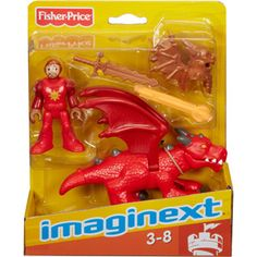 Fisher-Price Imaginext Knight and Dragon Figures