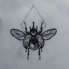 Beetle #tattoo #tattooist #tattooflash #tattooartist #tattooworkers #neotrad…