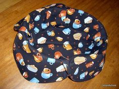 Basket Liner Coffee related items on a black by DesignsByDona, $10.00