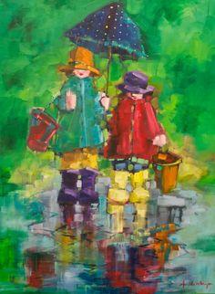 """Pailing By Comparison"" 40"" X 30"" Oil on Canvas"